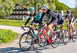 25.04.2018, Breitenbach, AUT, ÖRV Trainingslager, UCI Straßenrad WM 2018, im Bild Patrick Konrad (AUT), Michael Gogl (AUT) // during a Testdrive for the UCI Road World Championships in Breitenbach, Austria on 2018/04/25. EXPA Pictures © 2018, PhotoCredit: EXPA/ JFK