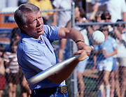 Jimmy Carter plays softball in his hometown of Plains, Georgia. Carter was pitcher and captain of his team that was comprised of off duty U.S. Secret service agents and White House staffers. The opposing team was comprised of members of the White house traveling press and captained by Billy Carter, the president's brother. - To license this image, click on the shopping cart below -
