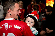 PERTH, AUSTRALIA - JULY 13: Father and daughter during pregame at the International soccer match between Manchester United and Perth Glory on July 13, 2019 at Optus Stadium in Perth, Australia. (Photo by Speed Media/Icon Sportswire)
