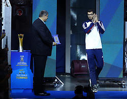 September 30, 2018 - Turin, Italy - Poland v Brazil - FIVP Men's World Championship Final.Matt Anderson of Usa receives the award as best opposite of the championship at Pala Alpitour in Turin, Italy on September 30, 2018. (Credit Image: © Matteo Ciambelli/NurPhoto/ZUMA Press)