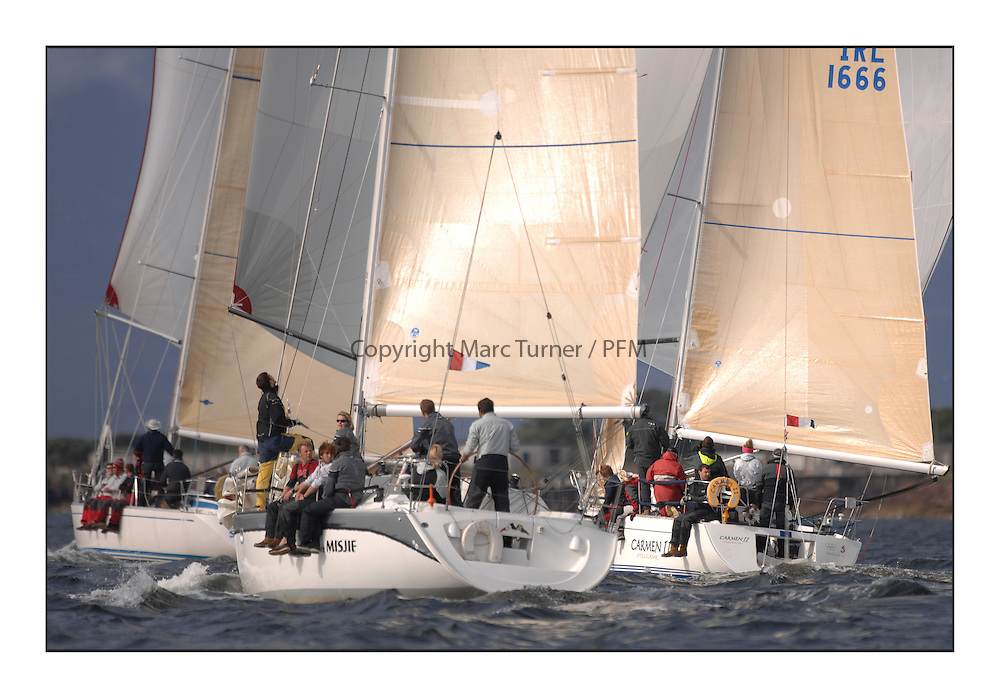 Largs Regatta Week - August 2012.Round the Island Race..5030C,  More Misjif,  Roddy Angus & Alastair Tear