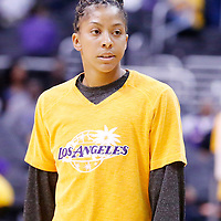 18 May 2014: Los Angeles Sparks forward/center Candace Parker (3) is seen prior to the Phoenix Mercury 74-69 victory over the Los Angeles Sparks, at the Staples Center, Los Angeles, California, USA.