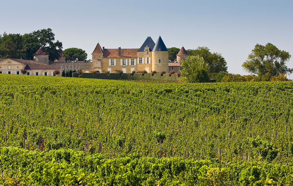 Chateau d' Yquem, Sauternes, France constructed in 15th Century with later additions