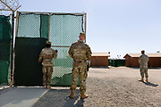 Guantanamo Bay, Cuba, Jan 2017.<br /> This is a picture of a guard at the prison. At Guantanamo you are under military censorship and you are not allowed to use a picture clearly identifying prisoners and guards so pictures of the prisoners or guards are backs or silhouettes. Every day the military go through your pictures and delete the once that are not approved.<br /> Photo by Ola Torkelsson <br /> Copyright Ola Torkelsson &copy;