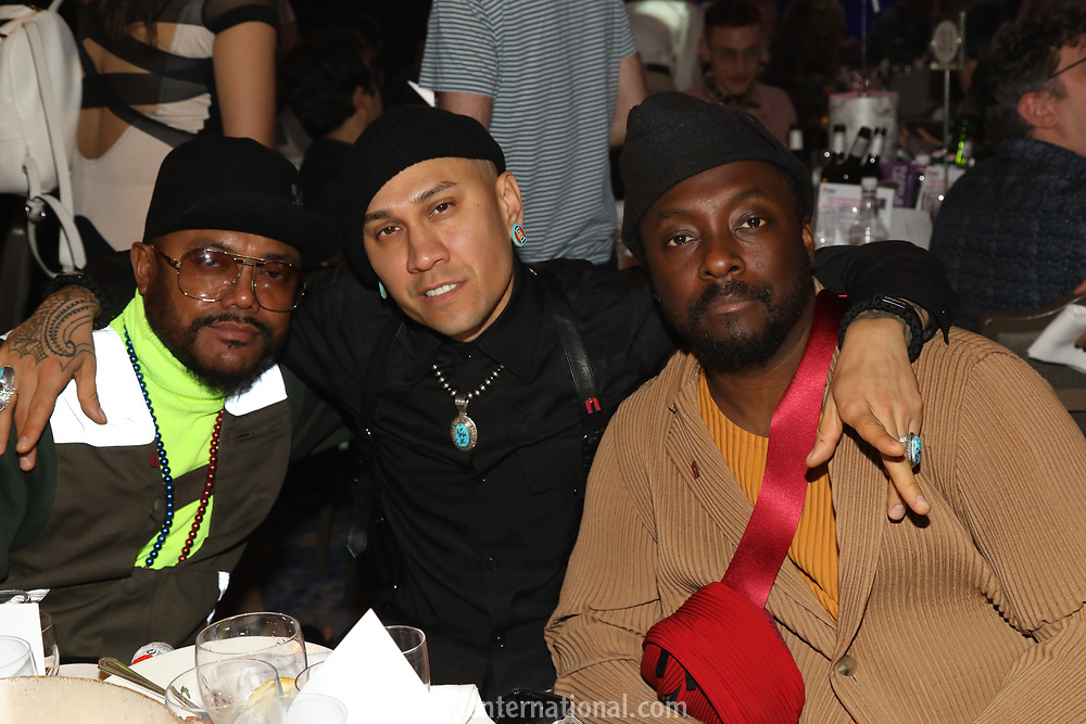 Black Eyed Peas at their table during the O2 Silver Clef Awards 2019, Grosvenor House, London, UK, Friday 05 July 2019<br /> Photo JM Enternational