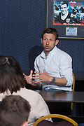 Dundee manager Neil McCann during a question and answer session for season ticket holders at Dens Park, Dundee<br /> <br /> <br />  - &copy; David Young - www.davidyoungphoto.co.uk - email: davidyoungphoto@gmail.com