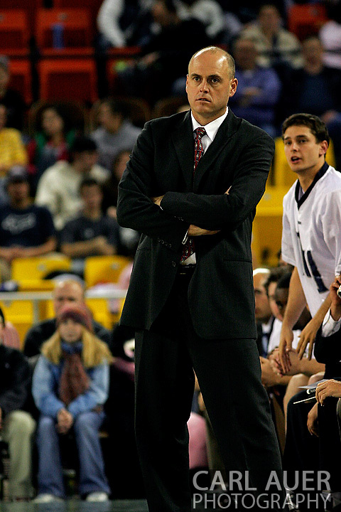 25 November 2005:  Monmouth head coach Dave Calloway in MU's loss to South Carolina 56-62 at the Great Alaska Shootout in Anchorage, Alaska