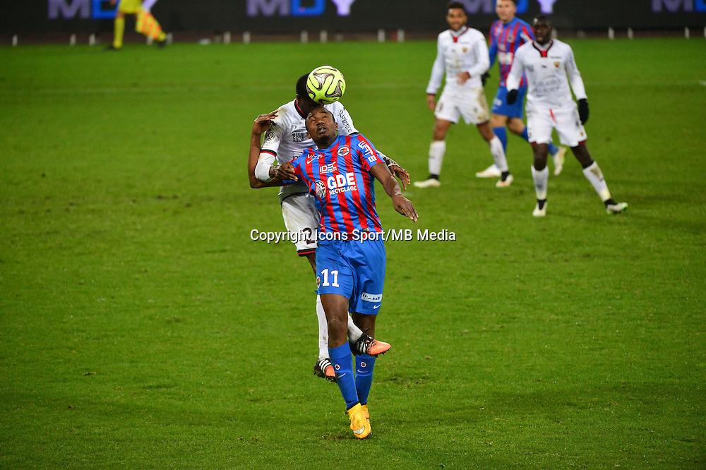 Bangaly Fode KOITA / Romain GENEVOIS - 05.12.2014 - Caen / Nice - 17eme journee de Ligue 1 -<br />Photo : Dave Winter / Icon Sport