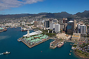 Aloha Tower, Downtown, Honolulu, Harbor, Oahu, Hawaii