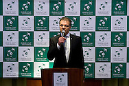 Krzysztof Suski - president of Polish Tennis Association while official dinner at Regent Hotel two days before the BNP Paribas Davis Cup 2014 between Poland and Croatia at Torwar Hall in Warsaw on April 2, 2014.<br /> <br /> Poland, Warsaw, April 2, 2014<br /> <br /> Picture also available in RAW (NEF) or TIFF format on special request.<br /> <br /> For editorial use only. Any commercial or promotional use requires permission.<br /> <br /> Mandatory credit:<br /> Photo by © Adam Nurkiewicz / Mediasport