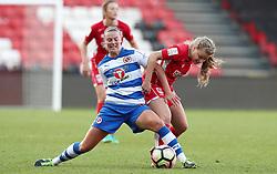 Olivia Fergusson of Bristol City Women battles for the ball with Anna Green of Reading Women - Mandatory by-line: Gary Day/JMP - 22/04/2017 - FOOTBALL - Ashton Gate - Bristol, England - Bristol City Women v Reading Women - FA Women's Super League 1 Spring Series