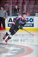 KELOWNA, CANADA - OCTOBER 21: Libor Zabransky #7 of the Kelowna Rockets warms up against the Portland Winterhawks on October 21, 2017 at Prospera Place in Kelowna, British Columbia, Canada.  (Photo by Marissa Baecker/Shoot the Breeze)  *** Local Caption ***