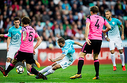Tim Matavz of Slovenia during football match between National Teams of Slovenia and Scotland of Fifa 2018 World Cup European qualifiers, on October 8, 2017 in SRC Stozice, Ljubljana, Slovenia. Photo by Vid Ponikvar / Sportida