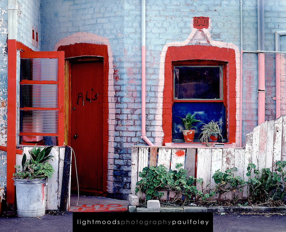Al's Place, run down terrace house in Cooks Hill, Newcastle, Australia