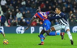Jake Livermore of West Bromwich Albion holds back Mamadou Sakho of Crystal Palace - Mandatory by-line: Nizaam Jones/JMP - 02/12/2017 - FOOTBALL - The Hawthorns - West Bromwich, England- West Bromich Albion v Crystal Palace - Premier League