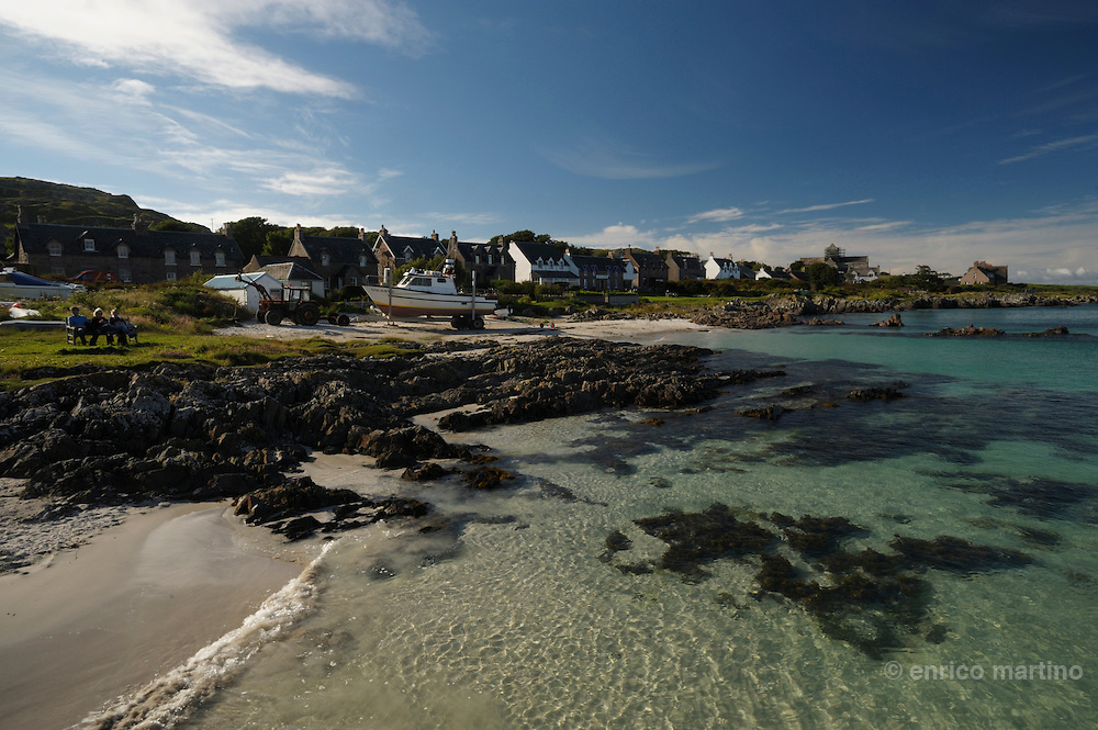 Hebrides, Iona island. The village.