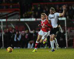 Bristol City's Luke Freeman is fouled by Port Vale's Richard Duffy  - Photo mandatory by-line: Joe Meredith/JMP - Mobile: 07966 386802 - 10/02/2015 - SPORT - Football - Bristol - Ashton Gate - Bristol City v Port Vale - Sky Bet League One