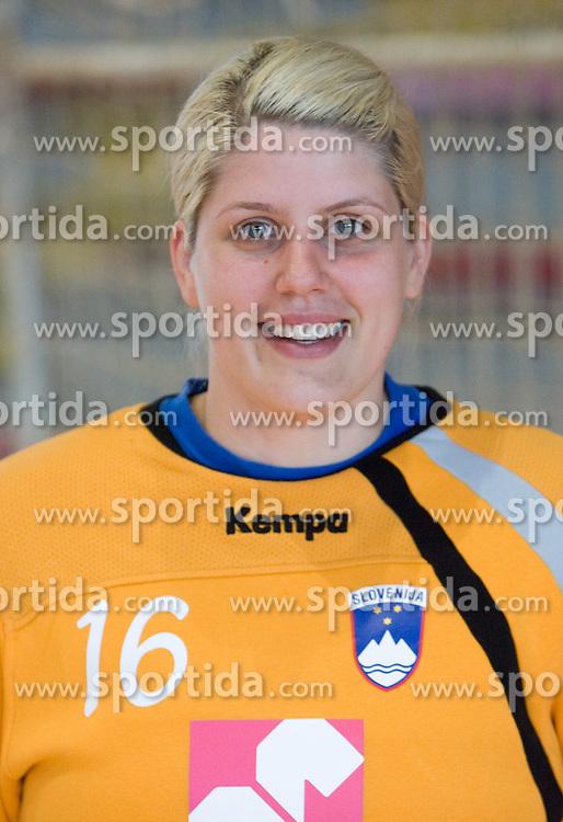 Portrait of Misa Marincek of Slovenian Handball Women National Team, on June 3, 2009, in Arena Kodeljevo, Ljubljana, Slovenia. (Photo by Vid Ponikvar / Sportida)
