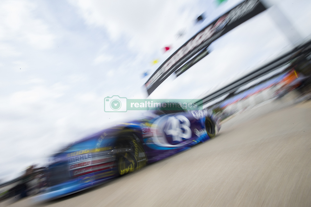 April 6, 2018 - Ft. Worth, Texas, United States of America - April 06, 2018 - Ft. Worth, Texas, USA: Darrell Wallace, Jr (43) comes in from practice for the O'Reilly Auto Parts 500 at Texas Motor Speedway in Ft. Worth, Texas. (Credit Image: © Stephen A. Arce Asp Inc/ASP via ZUMA Wire)