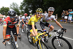 July 29, 2018 - Paris Champs-Elysees, France - PARIS CHAMPS-ELYSEES, FRANCE - JULY 29 : VAN AVERMAET Greg (BEL) of BMC Racing Team, THOMAS Geraint (GBR) of Team SKY, IMPEY Daryl of Mitchelton-Scott  during stage 21 of the 105th edition of the 2018 Tour de France cycling race, a stage of 116 kms between Houilles and Paris Champs-Elysees on July 29, 2018 in Paris Champs-Elysees, France, 29/07/18 (Credit Image: © Panoramic via ZUMA Press)