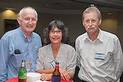 Paul and Shobha Roach with Steve Mugford. RLB 40th Birthday, Hilton. Photo Shane Eecen Creative Light Studios