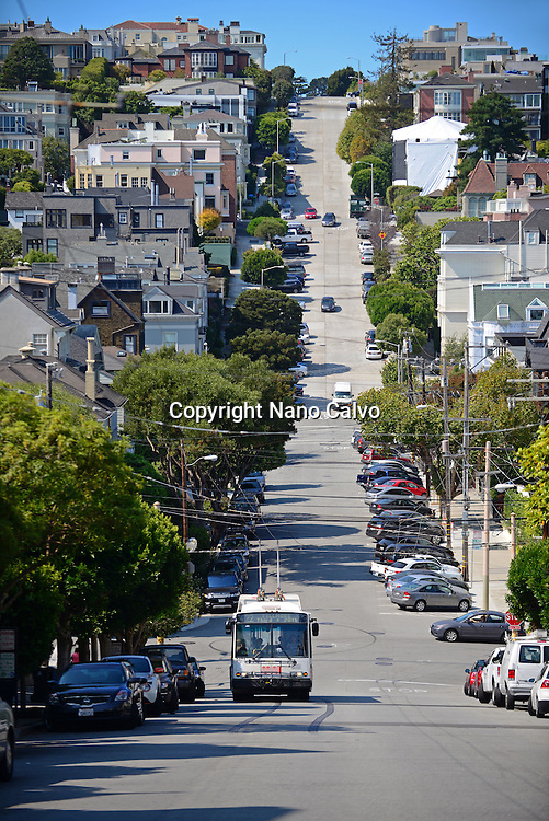 Steep streets of San Francisco, California.