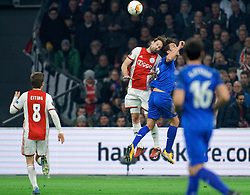 Daley Blind #17 of Ajax and Jaime Mata #7 of Getafe in action during the Europa League match R32 second leg between Ajax and Getafe at Johan Cruyff Arena on February 27, 2020 in Amsterdam, Netherlands