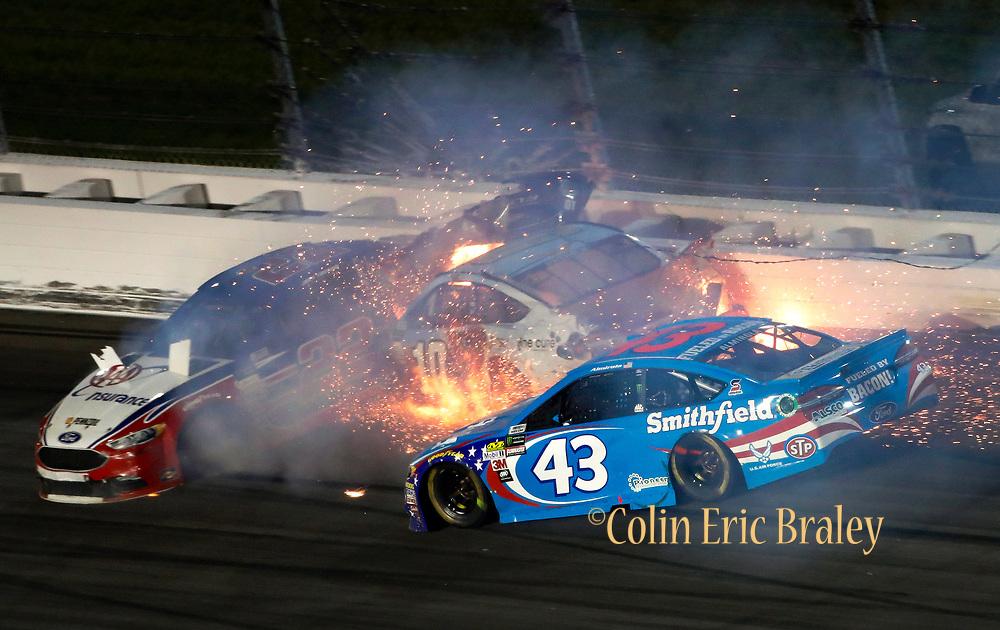 2017 NASCAR Crash at Kansas Speedway | COLIN E. BRALEY PHOTOGRAPHY