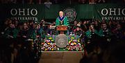 President Nellis speaks at graduate commencement. Photo by Ben Siegel