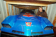 """Just up the road from Fred Markle and his '33 American Austin is.world drag racing champion Larry Flickinger and his 10,000.horse power """"rocket-powered funny car.  Larry says he and his.90% hydrogen peroxide fueled car achieved a speed of 401.miles an hour in the quarter mile with a time of 3.98 seconds..Today Larry has slowed his life back to raising Tennessee Walkers.on his Harney farm, one horsepower at a time."""