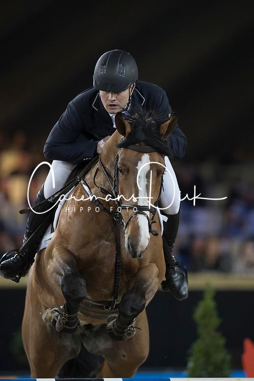 Dierckx Werner, BEL, Livingstone van het Peggershof<br /> Young Stallions 5 years of age<br /> Vlaanderens Kerstjumping Memorial Eric Wauters<br /> &copy; Dirk Caremans<br /> 27/12/2016