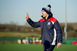 Bristol Rugby Academy S&C coach George van Klaveren rallies his players during warm-up - Mandatory by-line: Paul Knight/JMP - 21/01/2017 - RUGBY - SGS Wise Campus - Bristol, England - Bristol Academy U18 v Saracens Academy U18 - Premiership Rugby Academy U18 League