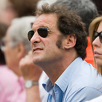 08 June 2007: French actor Vincent Lindon attends the French Tennis Open semi final won 7-5, 7-6(5), 7-6(7), by Roger Federer over Nikolay Davydenko on day 13 at Roland Garros, in Paris, France.