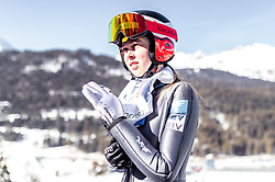 25.02.2019, Seefeld, AUT, FIS Weltmeisterschaften Ski Nordisch, Seefeld 2019, Skisprung, Damen, Training, im Bild Lisa Eder (AUT) // Lisa Eder of Austria during the training for the ladie's Skijumping HS109 competition of FIS Nordic Ski World Championships 2019. Seefeld, Austria on 2019/02/25. EXPA Pictures © 2019, PhotoCredit: EXPA/ JFK