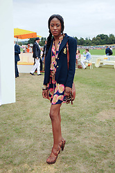 MATILDA MBU at the Veuve Clicquot Gold Cup polo final held at Cowdray Park, Midhurst, West Sussex on 18th July 2010.