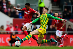 Niclas Eliasson of Bristol City is fouled by Dara O'Shea of West Bromwich Albion - Mandatory by-line: Ryan Hiscott/JMP - 22/02/2020 - FOOTBALL - Ashton Gate - Bristol, England - Bristol City v West Bromwich Albion - Sky Bet Championship