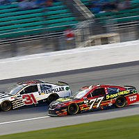 May 13, 2017 - Kansas City, Kansas, USA: Erik Jones (77) battles for position during the Go Bowling 400 at Kansas Speedway in Kansas City, Kansas.