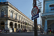 The beautiful arches of the buildings at Old Havana