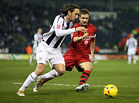 Photo: Rich Eaton.<br /> <br /> West Bromwich Albion v Cardiff City. Coca Cola Championship. 20/02/2007. Stephen McPhail right of Cardiff chases down West Broms Jonathan Greening