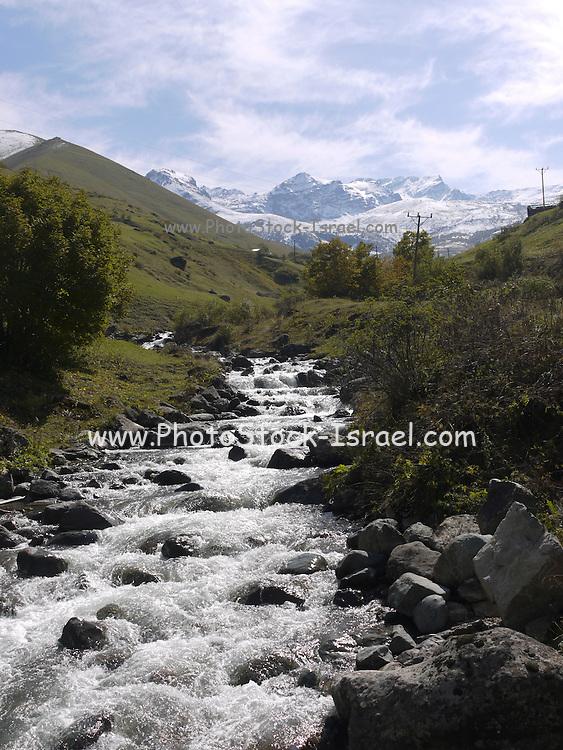 Turkey, Pontic Mountains range, A stream flows down the mountain