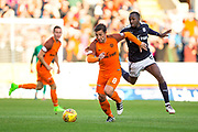 Dundee United forward Scott McDonald (#8) bursts forward away from the challenge of Dundee midfielder Glen Kamara (#8) during the Betfred Scottish Cup match between Dundee and Dundee United at Dens Park, Dundee, Scotland on 9 August 2017. Photo by Craig Doyle.