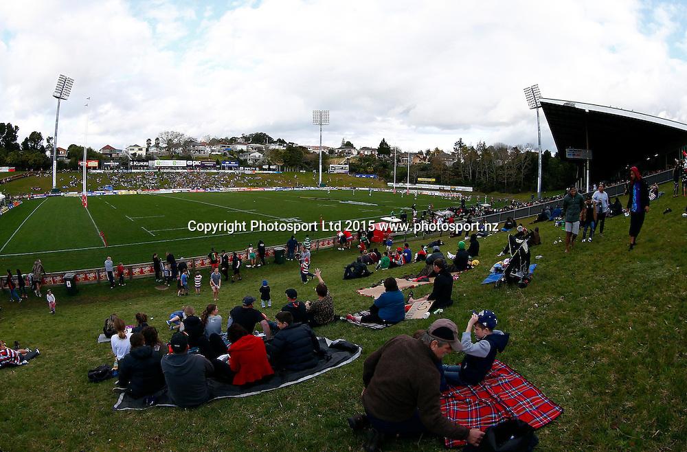General View. ITM Cup, Counties v Manawatu , ECOLight Stadium, Pukekohe, Sunday 16th August 2015. Copyright Photo: Shane Wenzlick / www.photosport.nz