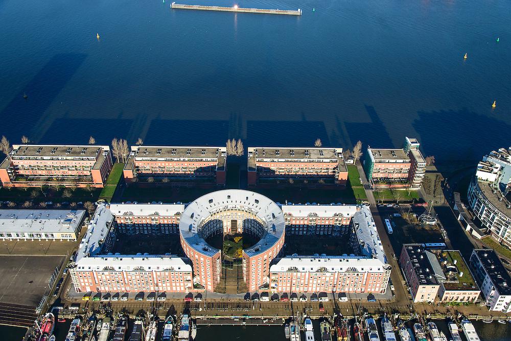 Nederland, Provincie, Plaats, 11-12-2013;<br /> <br /> QQQNederland, Noord-Holland, Amsterdam, 11-12-2013; KNSM-eiland met Levantkade en Barcelonaplein.<br /> Newly developed former harbor area with modern architecture.<br /> luchtfoto (toeslag op standaard tarieven);<br /> aerial photo (additional fee required);<br /> copyright foto/photo Siebe Swart.<br /> luchtfoto (toeslag op standaard tarieven);<br /> aerial photo (additional fee required);<br /> copyright foto/photo Siebe Swart.