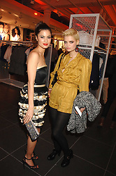 Left to right, actress NATASSIA SCARLET MALTHE and PIXIE GELDOF at a party to celebrate the opening of the new H&M store at 234 Regent Street, London on 13th February 2008.<br /> <br /> NON EXCLUSIVE - WORLD RIGHTS