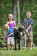 Children with greyhounds love a good joke