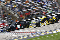 April 8, 2018 - Ft. Worth, Texas, United States of America - April 08, 2018 - Ft. Worth, Texas, USA: Trevor Bayne (6) and Harrison Rhodes (51) battle for position during the O'Reilly Auto Parts 500 at Texas Motor Speedway in Ft. Worth, Texas. (Credit Image: © Chris Owens Asp Inc/ASP via ZUMA Wire)