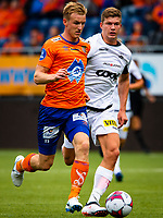 1. divisjon fotball 2018: Aalesund - Åsane (1-0). Aalesunds Torbjørn Agdestein (t.v.) i kampen i 1. divisjon i fotball mellom Aalesund og Åsane på Color Line Stadion.