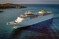 Aerial photography of cruise ship