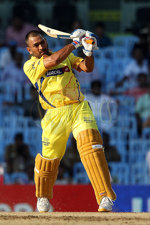MS Dhoni during match 14 of the Indian Premier League ( IPL ) Season 4 between the Chennai Superkings and The Royal Challengers Bangalore held at the MA Chidambaram Stadium in Chennai, Tamil Nadu, India on the 16th April 2011..Photo by Ron Gaunt/BCCI/SPORTZPICS
