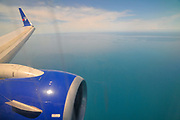 Aerial view of Greece from within the cabin of of a Travel Service Airlines (Czech Republic) Boeing 737-800
